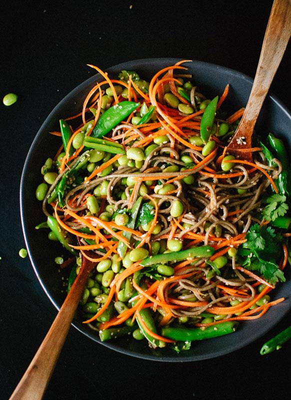 Sugar Snap Pea and Carrot Soba Noodles Spring Recipe